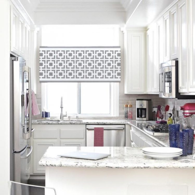 ADD A LITTLE STENCIL FLAIR TO YOUR ROLLER BLINDS WITH THIS FUN DIY