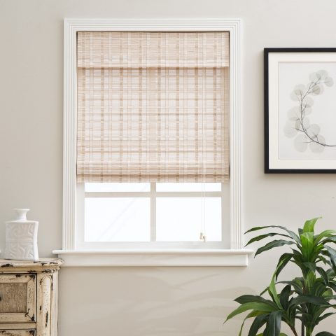 Whitewash Bamboo Shade Blinds